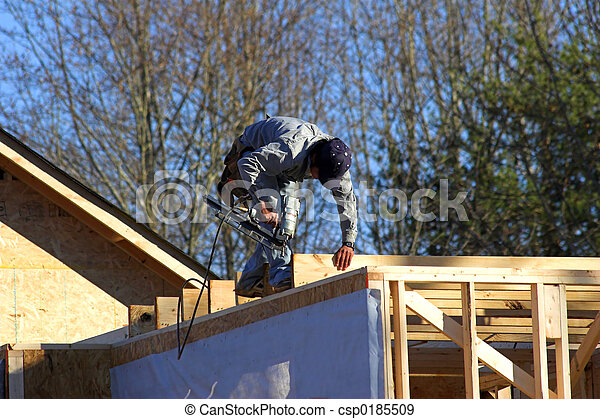 Carpenter Nailing - csp0185509