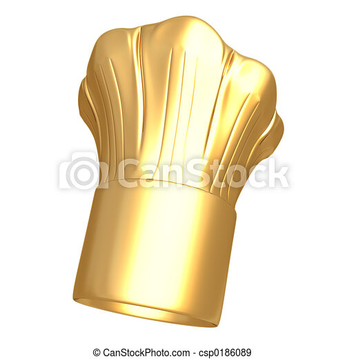 Gilded Chef Hat - csp0186089
