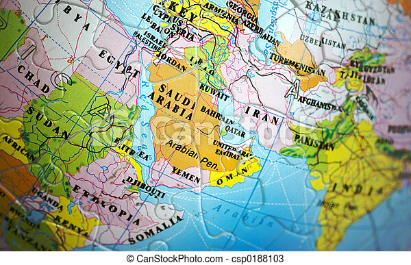 World 3D Puzzle: Middle East - csp0188103