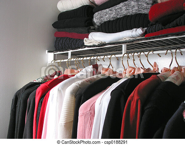 Closet with clothes - csp0188291