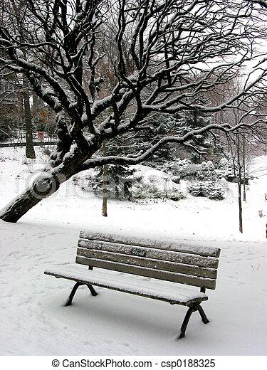 Winter bench 1 - csp0188325