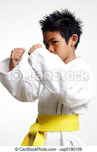 Karate Kid with yellow belt