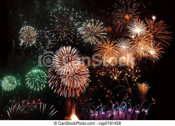 fireworks in Madeira - csp0191458