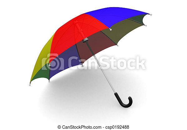 Umbrella on the ground - csp0192488