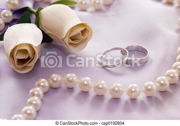生活, 仍然, 婚禮 - csp0192804