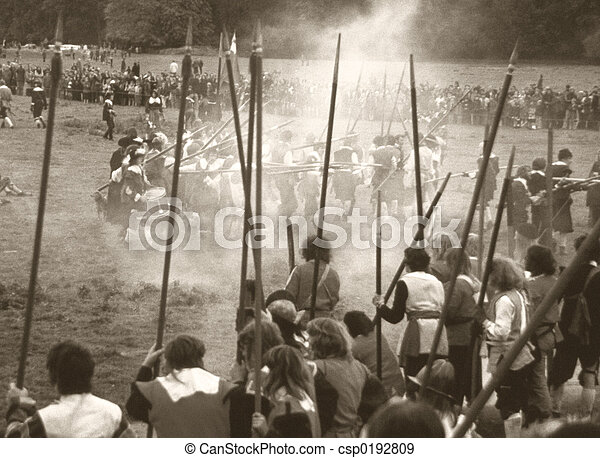 English Civil War battle - csp0192809