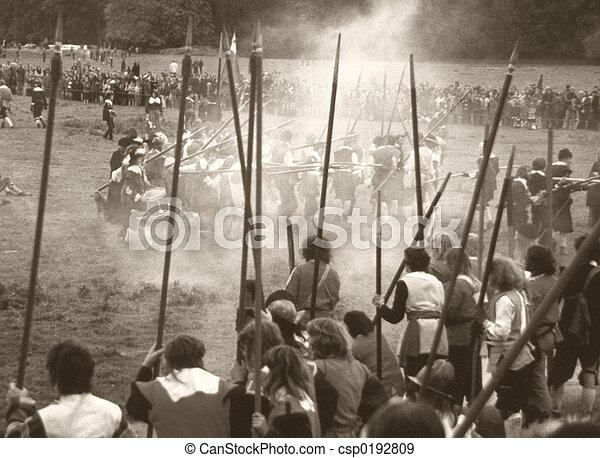 English Civil War battle - csp0192809