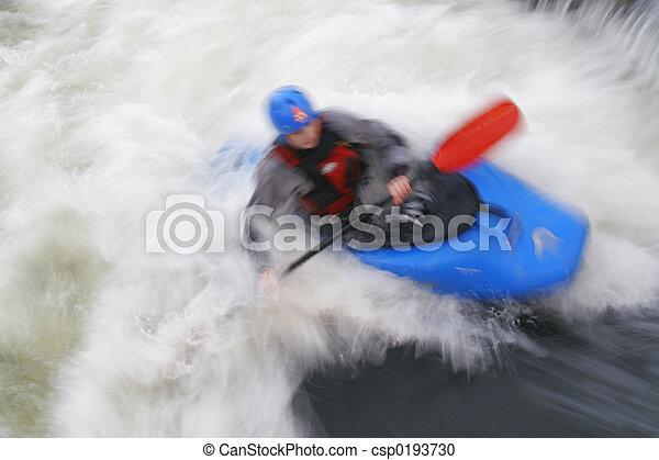 Surfing Whitewater - csp0193730