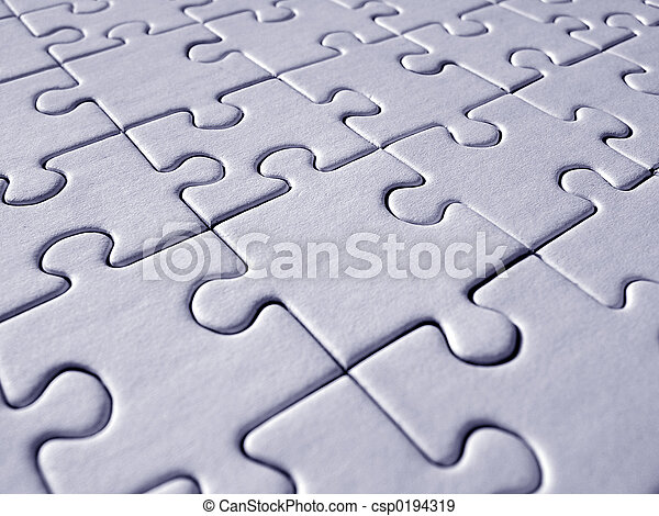 Blue jigsaw pattern - csp0194319