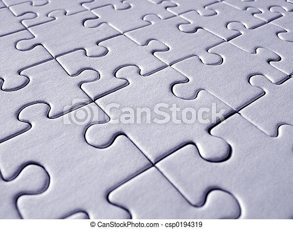 Blue jigsaw pattern - csp0194319