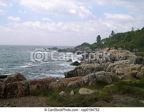 Rocky Maine Coastline - csp0194752