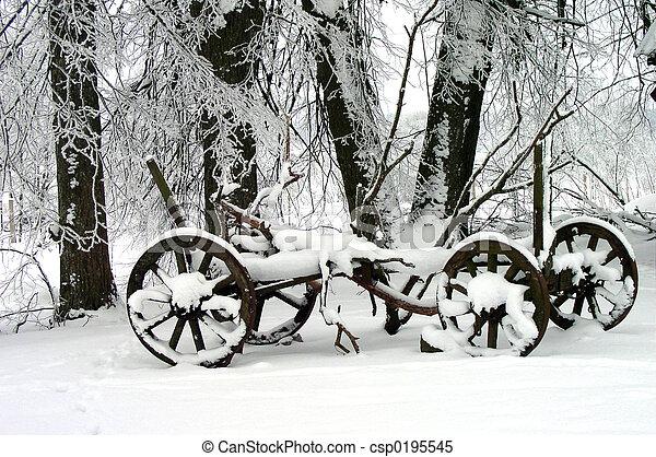 hiver,  scène - csp0195545
