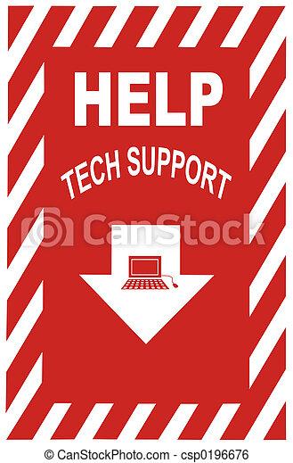 サポート, 技術, 印 - csp0196676