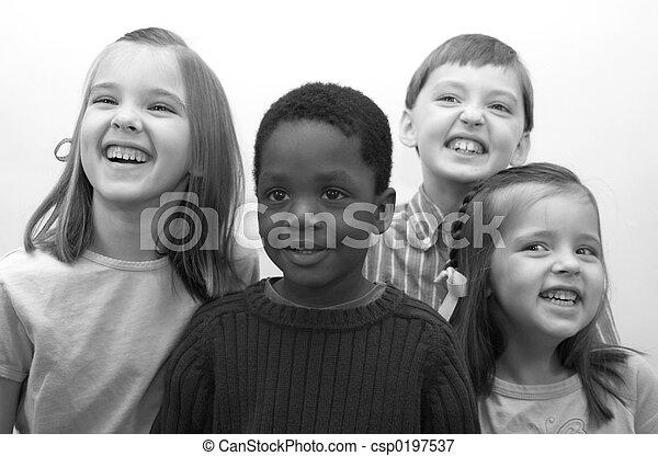 Four Children - csp0197537