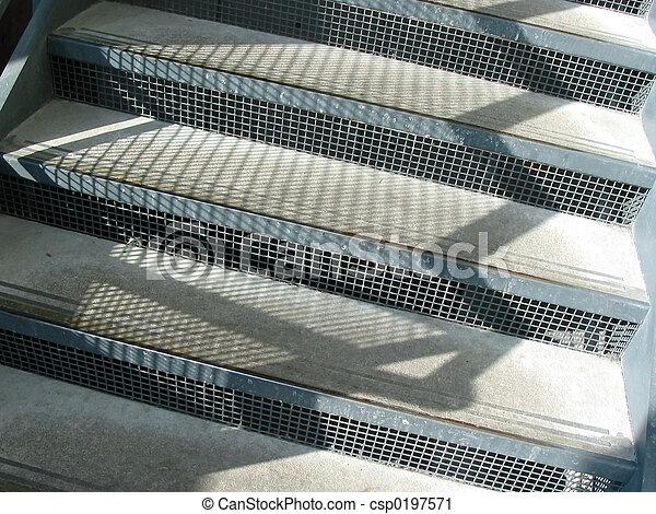 Stock de fotograf a de escaleras concreto escaleras for Escaleras de metal y concreto