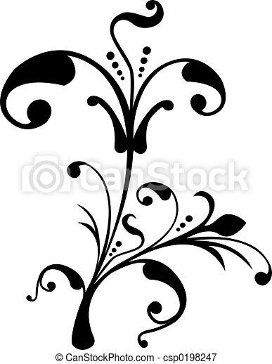 Scroll, cartouche, decor, vector illustration - csp0198247