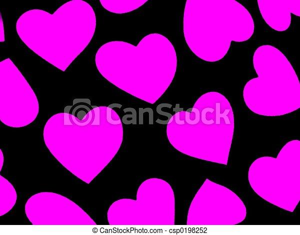 Heart Background Mag - csp0198252