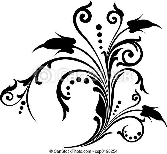 Scroll, cartouche, decor, vector illustration   - csp0198254