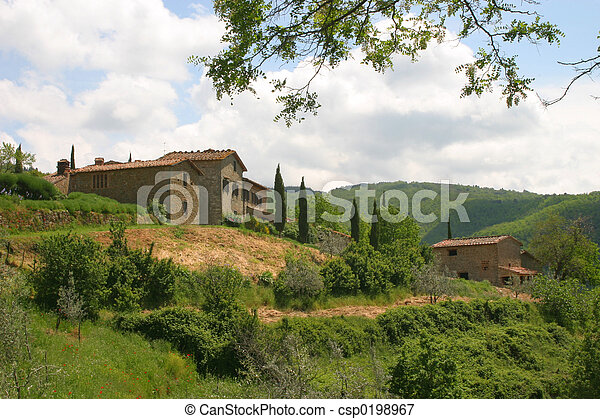 The Tuscan Hills Italy - csp0198967