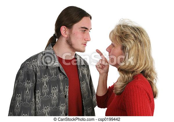 Beligerant Teen Faces Mom - csp0199442