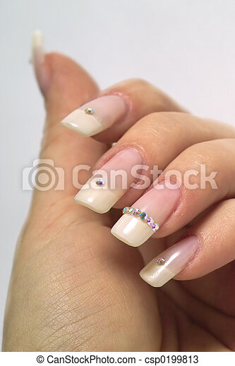 French manicure - csp0199813