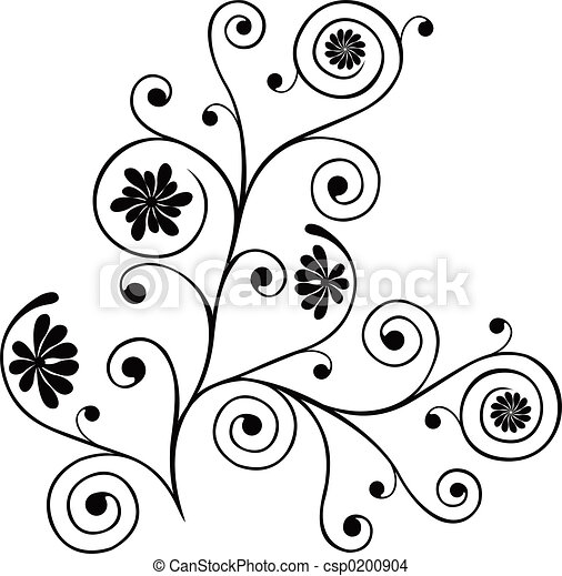 Scroll, cartouche, decor, vector illustration - csp0200904