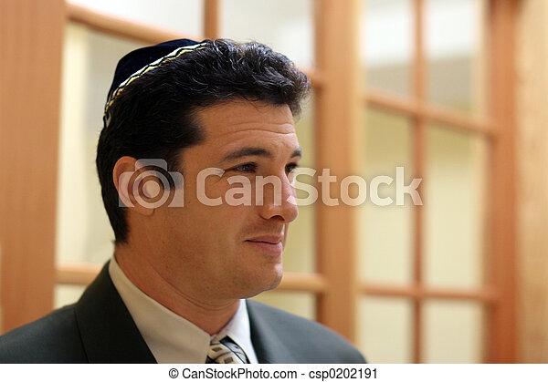 ebreo, giovane, uomo - csp0202191