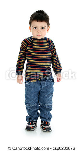 Stock Image of Boy Child Standing - Adorable toddler boy ...