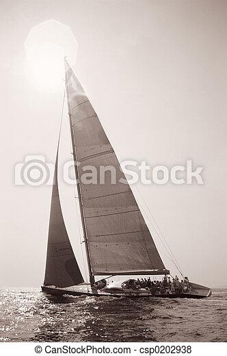 Old Time Sailing - csp0202938