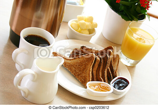 Breakfast Series - Toast, coffee and juice - csp0203612