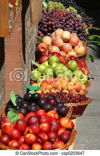 フルーツ, 市場 - csp0203647