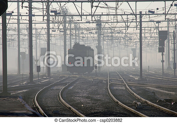 Train In Fog - csp0203882