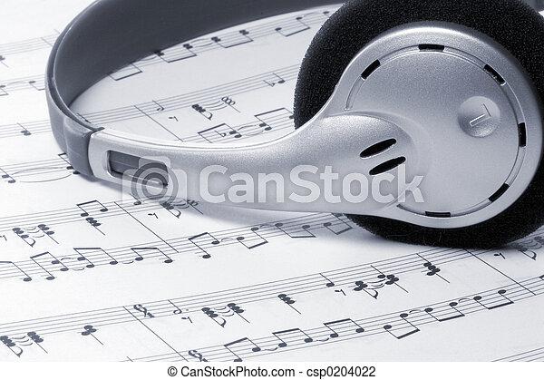 hörlurar, musik - csp0204022