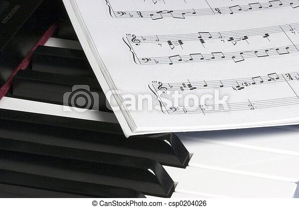 Piano, musik - csp0204026