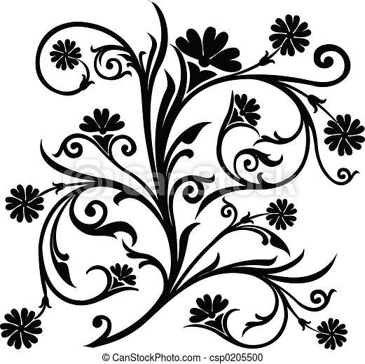 Scroll, cartouche, decor, vector illustration   - csp0205500