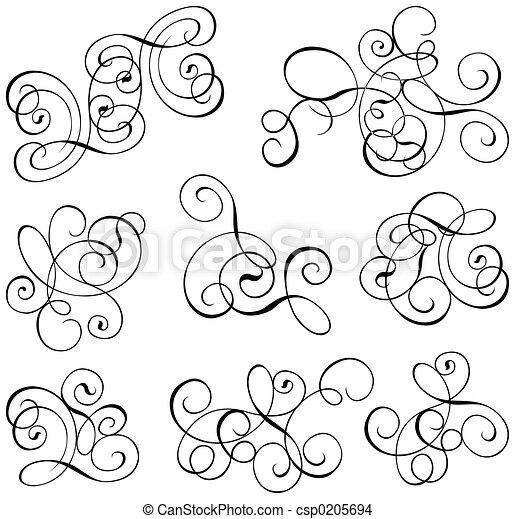 Scroll, cartouche, decor, vector illustration   - csp0205694