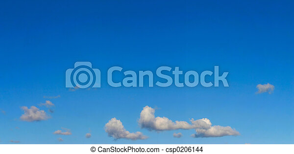 bright sky panorama  - csp0206144