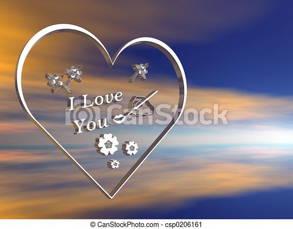 Valentine wishes. - csp0206161