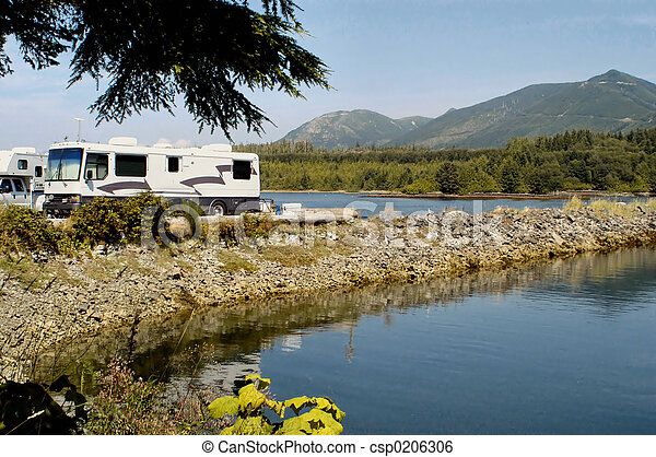 RV camping - csp0206306