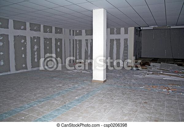 Basement Under Construction - csp0206398