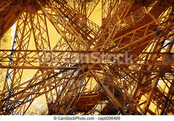 Grunge Eiffel Tower - csp0206469