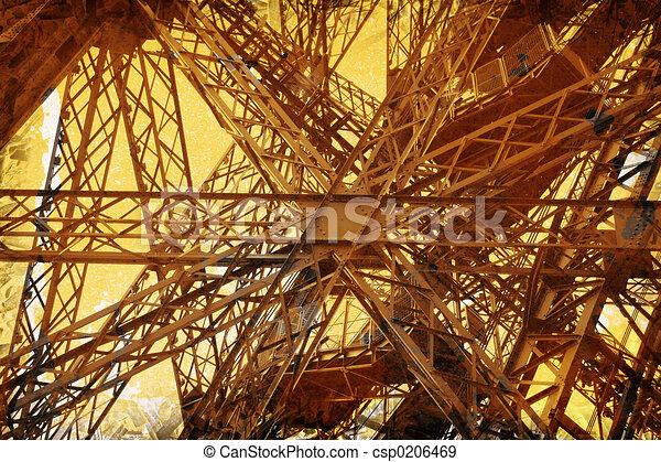 Grunge Eiffel Tower - csp0206469