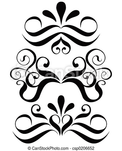 Scroll, cartouche, decor, vector illustration   - csp0206652
