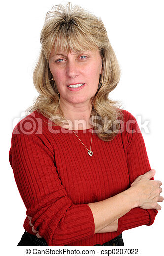 Concerned Blond Woman - csp0207022