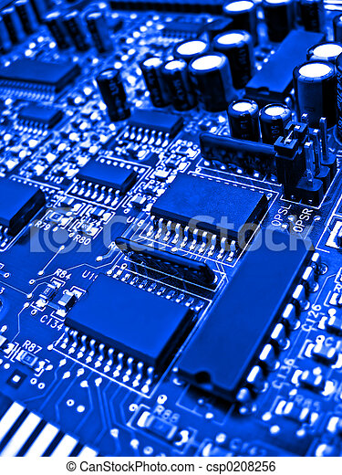 Blue circuit board elements - csp0208256