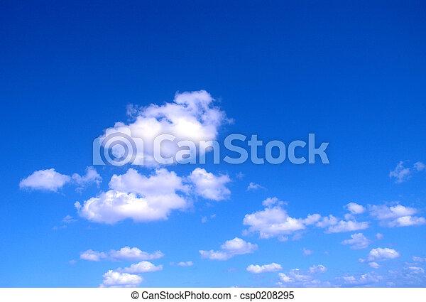 藍色, 天空 - csp0208295
