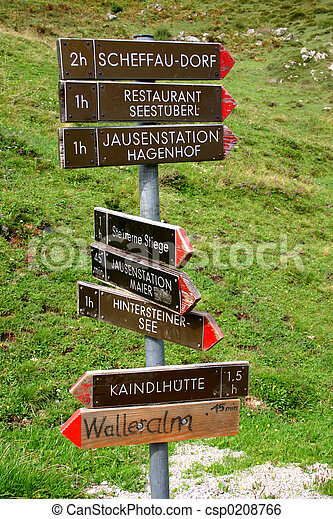 Footpath signpost - csp0208766