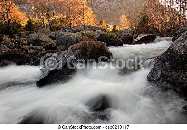 River at Sunrise - csp0210117