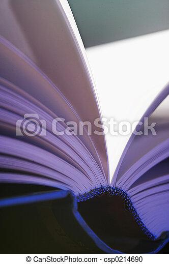 aufgeschlagene Seiten- pitched pages - csp0214690