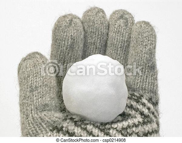 snowball in glove - csp0214908